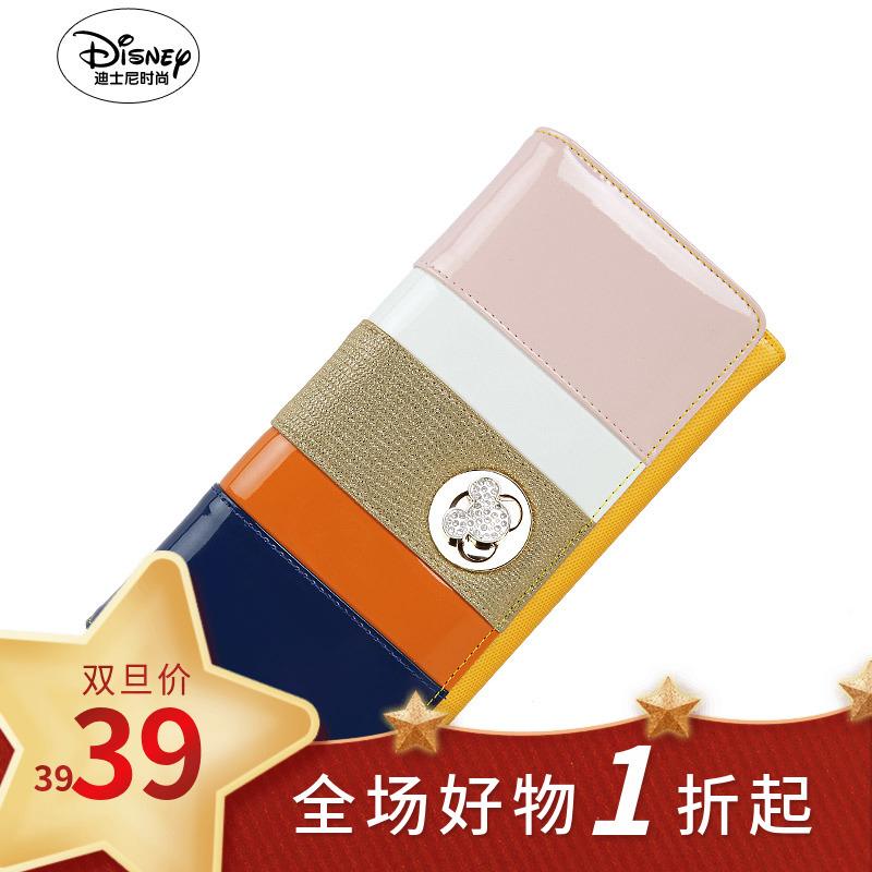 糖果包 Disney迪士尼米奇专柜正品糖果撞色时尚长款女士钱包AP2209-02_推荐淘宝好看的女糖果包