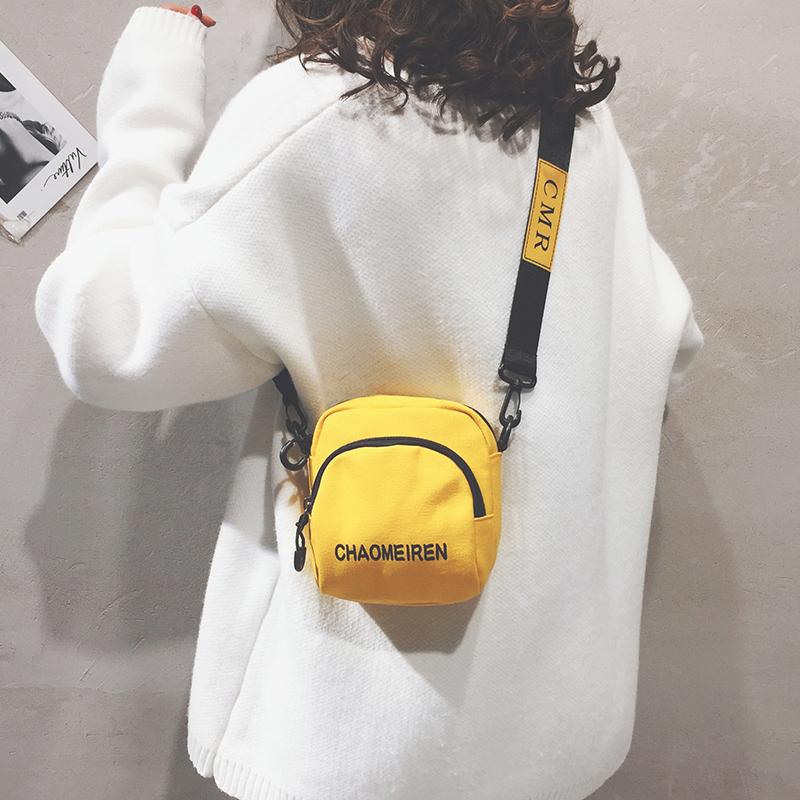 白色迷你包 网红质感小包包女包新款2020夏季洋气帆布包女迷你百搭单肩斜挎包_推荐淘宝好看的白色迷你包