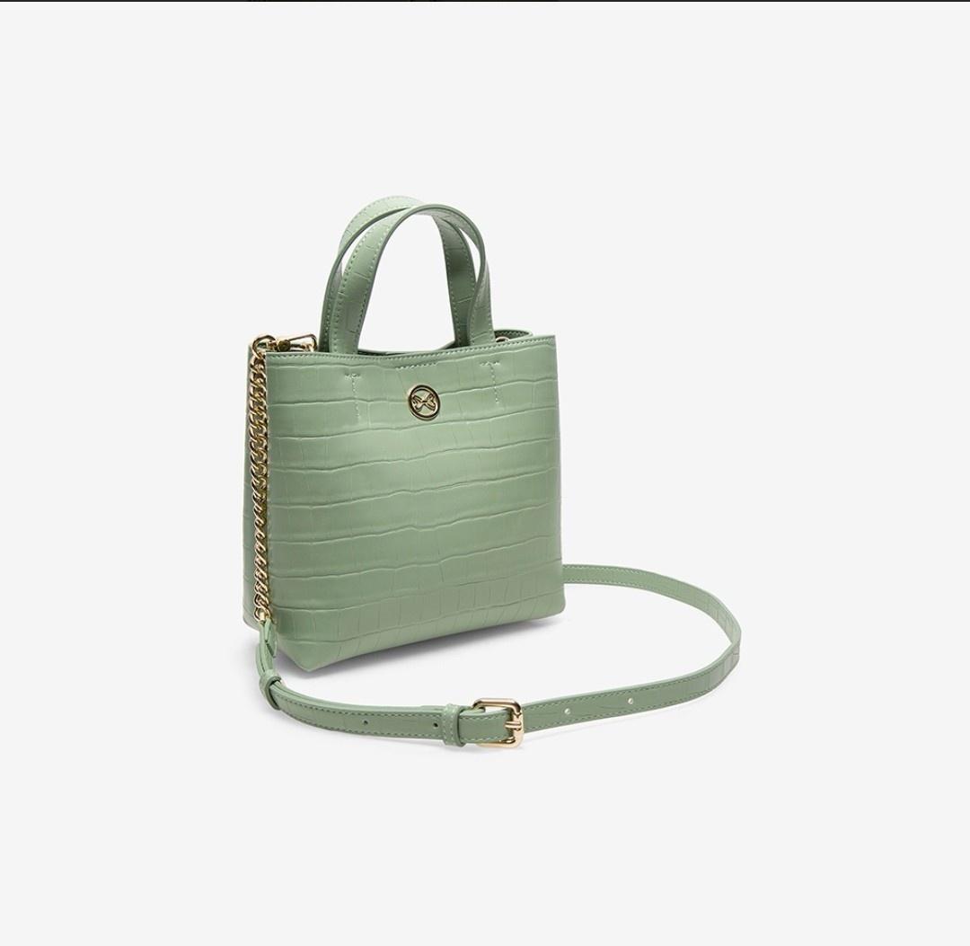 绿色水桶包 百思图时尚女包商场同款专柜正品水桶包时尚百搭促销绿色经典款式_推荐淘宝好看的绿色水桶包