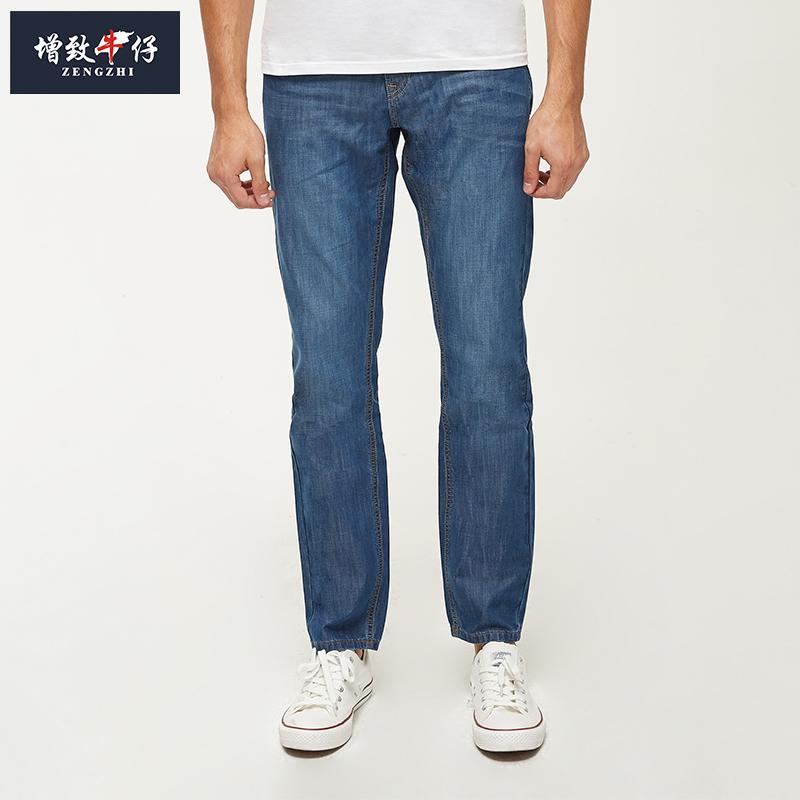 淘宝男牛仔裤 ZENGZHI增致牛仔裤男士夏季薄款中年爸爸装宽松无弹直筒裤58012_推荐淘宝好看的男牛仔裤