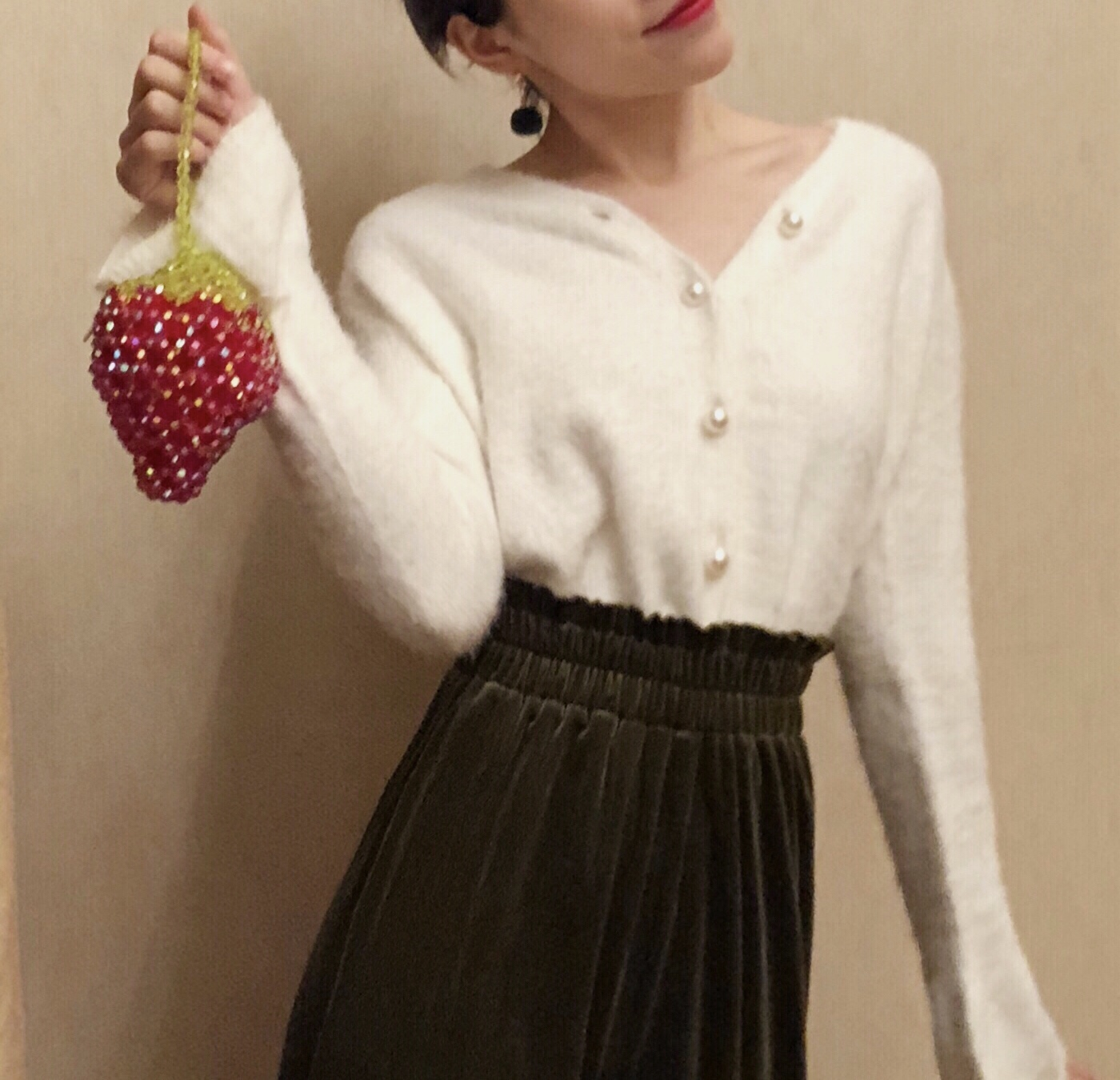 红色钱包 小众百搭潮小包包手工新款红色串珠包草莓包零钱包儿童包时尚小包_推荐淘宝好看的红色钱包