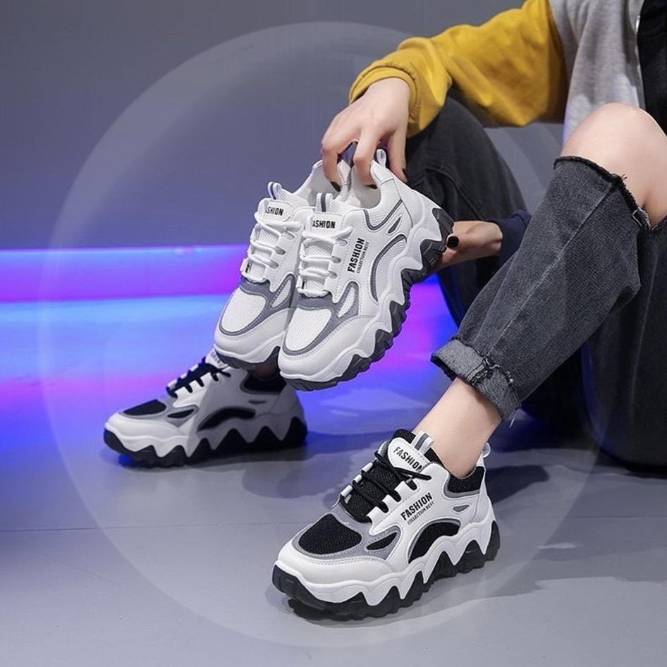 耐克运动鞋新款 万耐克斯特老爹鞋女ins超火2020新款鞋子增高运动鞋子学生韩版透_推荐淘宝好看的女耐克运动鞋新款