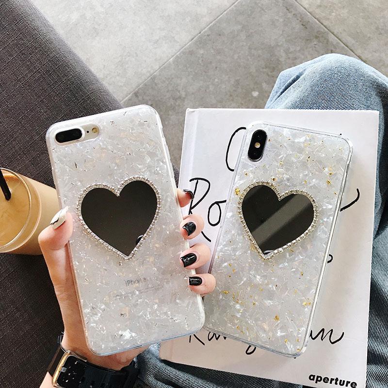 范冰冰贝壳包 ins爱心镜面贝壳纹1211proMax手机壳苹果xxr_推荐淘宝好看的范冰冰贝壳包