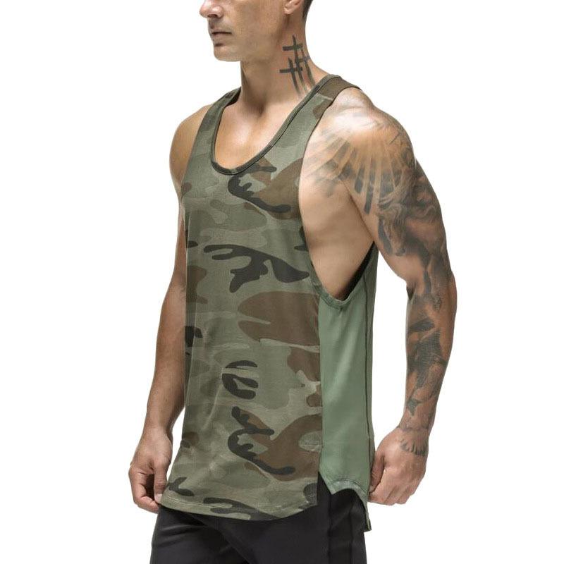 绿色背心 军绿色迷彩背心男 速干 夏季新款透气健身衣男士运动无袖t恤肌肉_推荐淘宝好看的绿色背心