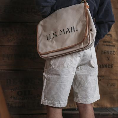 白色邮差包 背包植鞣革邮差包手腕 可2020 Bronson原胚布40年代白色 原色斜挎_推荐淘宝好看的白色邮差包