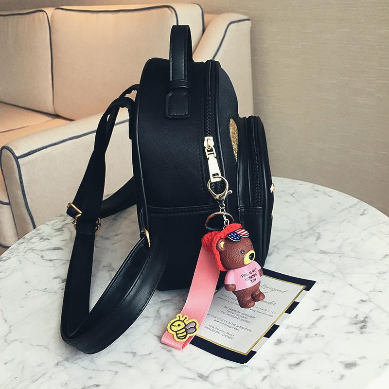 PU双肩糖果包 卡通可爱新款爆款猫咪时尚软面PU皮女式双肩包纯色糖果色女生背包_推荐淘宝好看的PU双肩糖果包