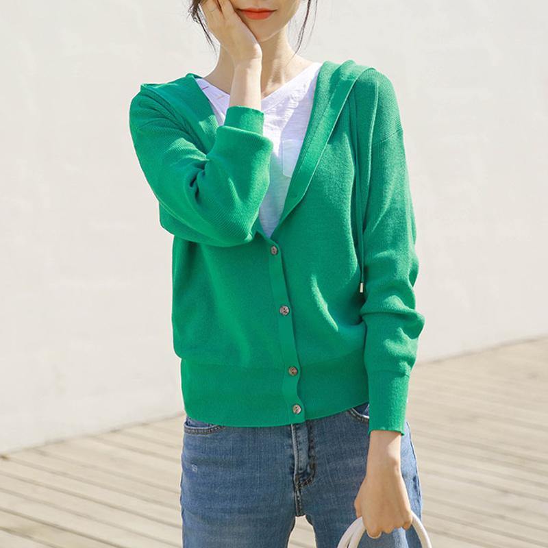 绿色针织衫 开衫毛衣女士春装2021年新款女装春秋打底针织衫上衣春款绿色外套_推荐淘宝好看的绿色针织衫
