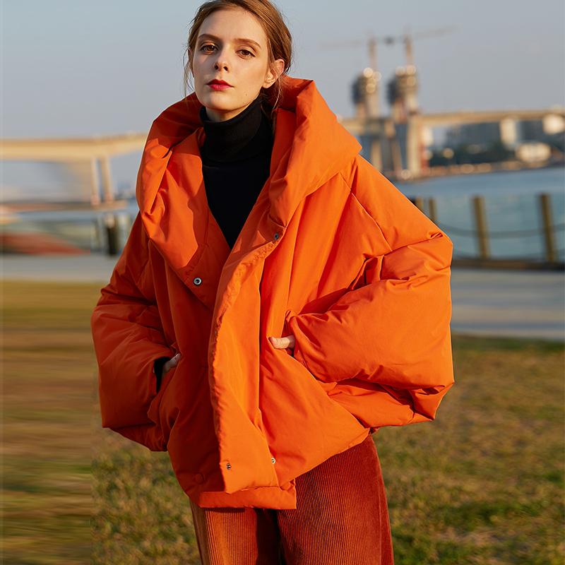 以纯羽绒服 意大利设计师高端蝙蝠型羽绒服女新品高绒加厚保暖冬装外套_推荐淘宝好看的以纯羽绒服女