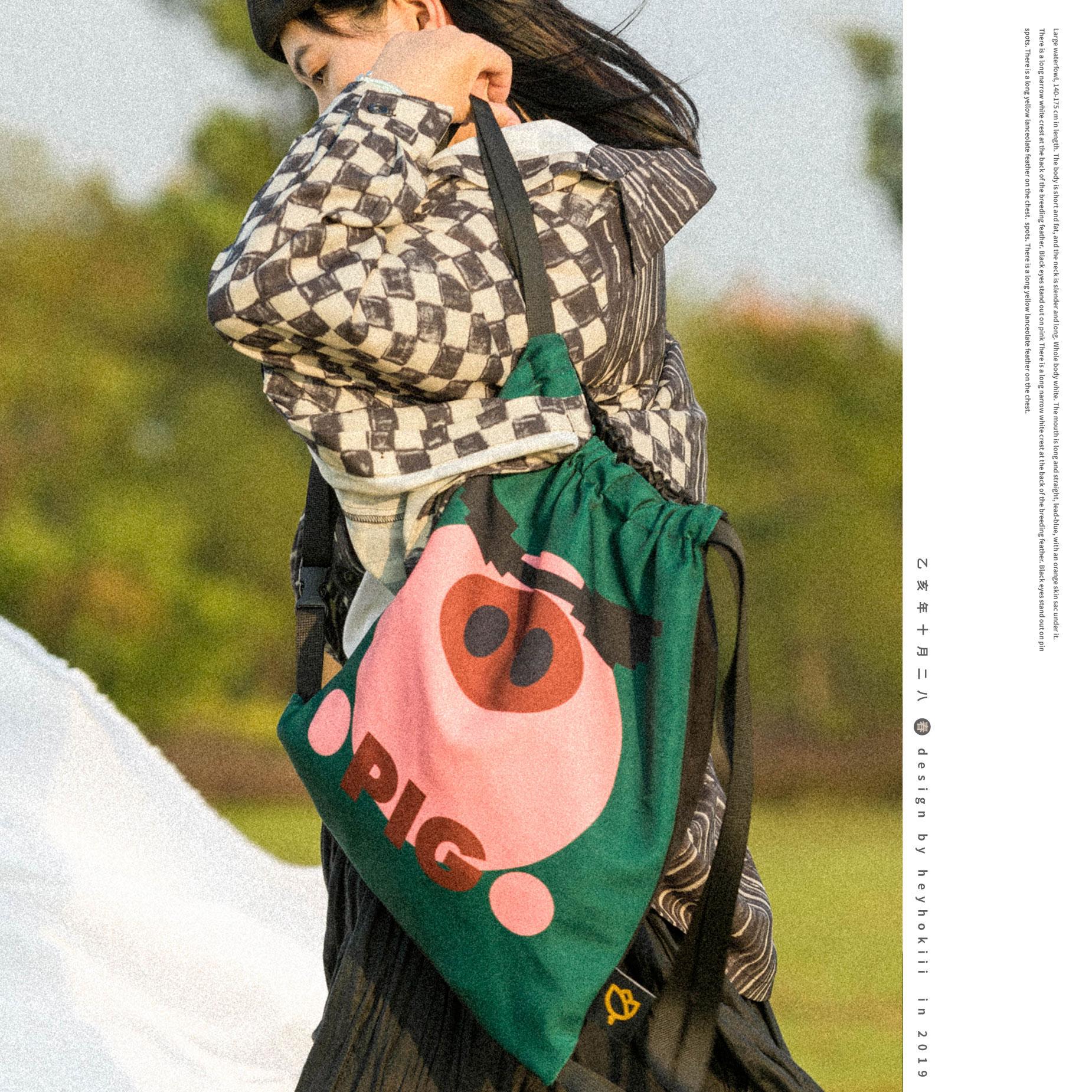 绿色帆布包 何几原创2020新款帆布包女文艺束口包抽绳女包猪墨绿色双肩包_推荐淘宝好看的绿色帆布包