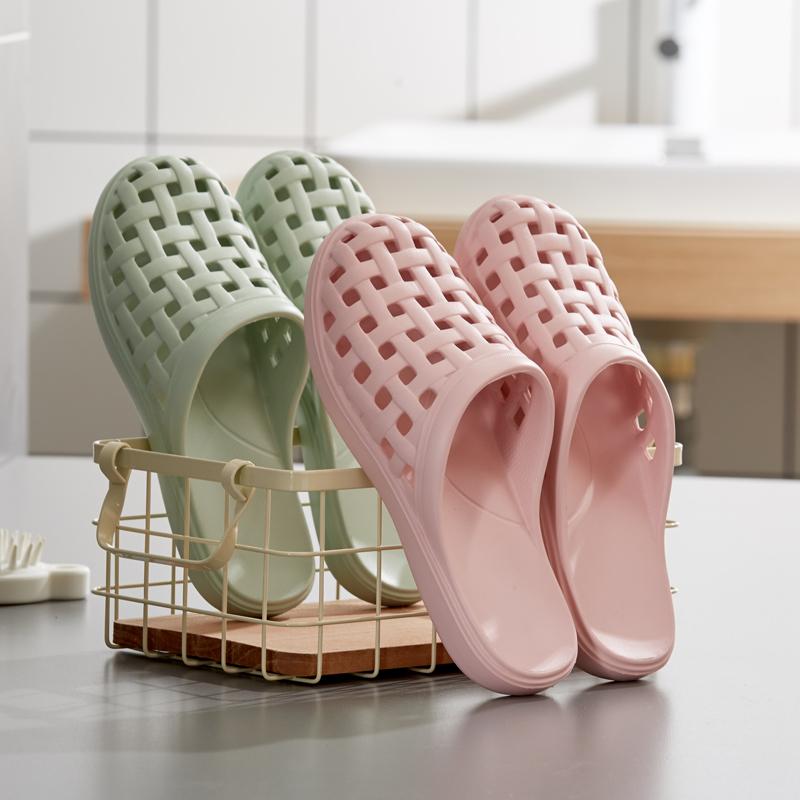 拖鞋 夏季洞洞浴室洗澡家居凉拖鞋女士室内防滑包头居家塑料拖鞋家用男_推荐淘宝好看的女拖鞋