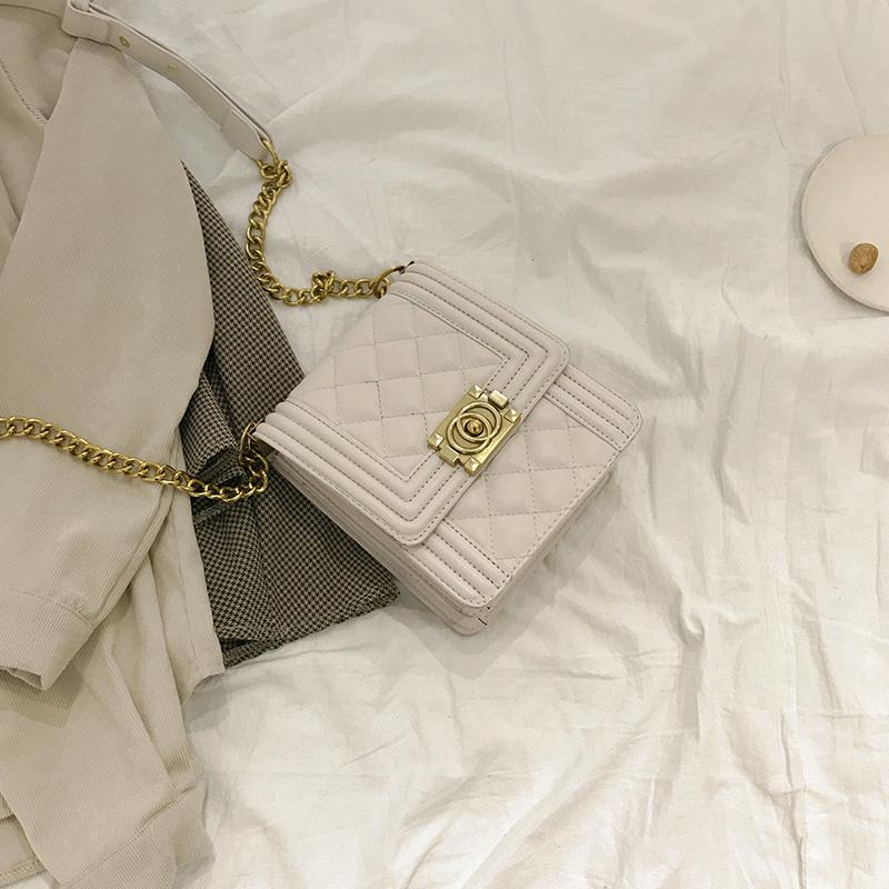 白色复古包 百搭ins斜挎包包女2019新款复古时尚链条包小香风单白色肩小方包_推荐淘宝好看的白色复古包