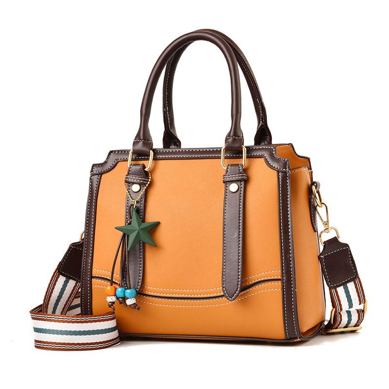 欧美手提包 女士包包2019秋冬欧美新款女包优雅时尚手提包潮流单肩包_推荐淘宝好看的女欧美手提包