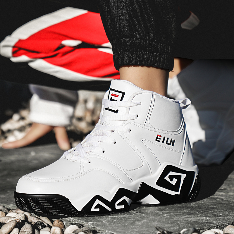 篮球鞋 特大码男鞋45 46 47特大号48高帮运动鞋潮流学生白色篮球鞋男球鞋_推荐淘宝好看的男篮球鞋