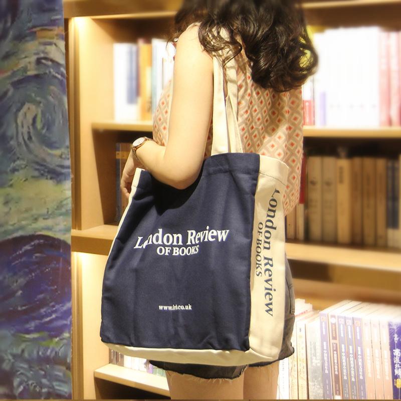 学生帆布包 异集英国莎士比亚伦敦书店帆布包 单肩手提布袋女士文艺小众学生_推荐淘宝好看的女学生帆布包