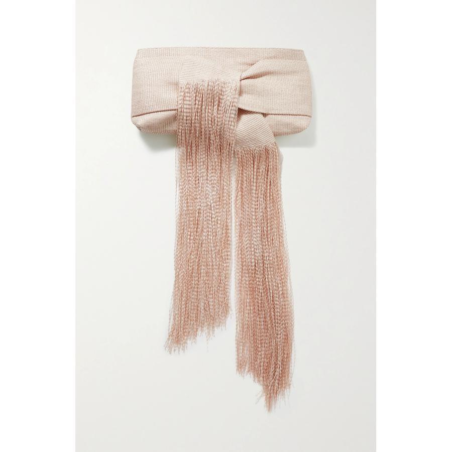 粉红色手拿包 折扣代购 CULT GAIA 粉红色 Banu 流苏拉菲草女手拿包_推荐淘宝好看的粉红色手拿包