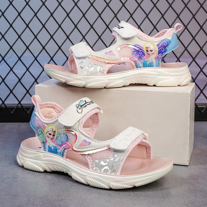 少女平底罗马鞋 罗马凉鞋小女孩2021年新款滑链7少女8中大童女鞋9平底十岁学生12_推荐淘宝好看的女少女平底罗马鞋