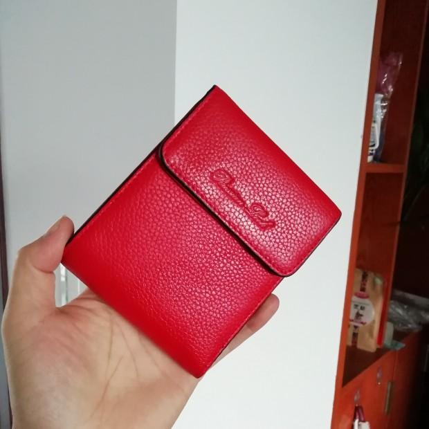 红色钱包 女包清仓大处理女式红色短型钱包证件卡位零钱位女士短款新款皮夹_推荐淘宝好看的红色钱包
