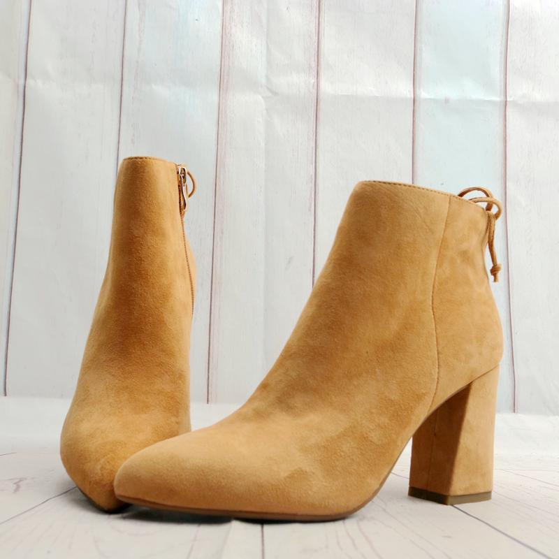 非主流高跟鞋 高跟粗跟羊绒皮女鞋子尖头时尚皮靴女靴子时装短靴棉鞋X22-1_推荐淘宝好看的女时尚 高跟鞋
