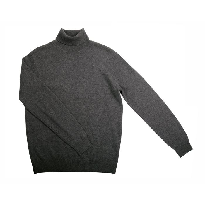 欧美男士高领毛衣 秋冬 欧美男士基本款黑色灰色打底高领毛衣 秋季薄款套头羊毛衫_推荐淘宝好看的欧美男高领毛衣