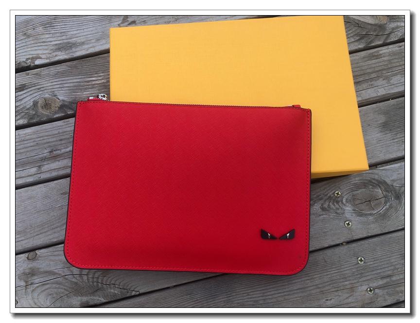 红色手拿包 女士手包信封包小怪兽手拿包韩版潮流新款手抓包红色包时尚男女包_推荐淘宝好看的红色手拿包