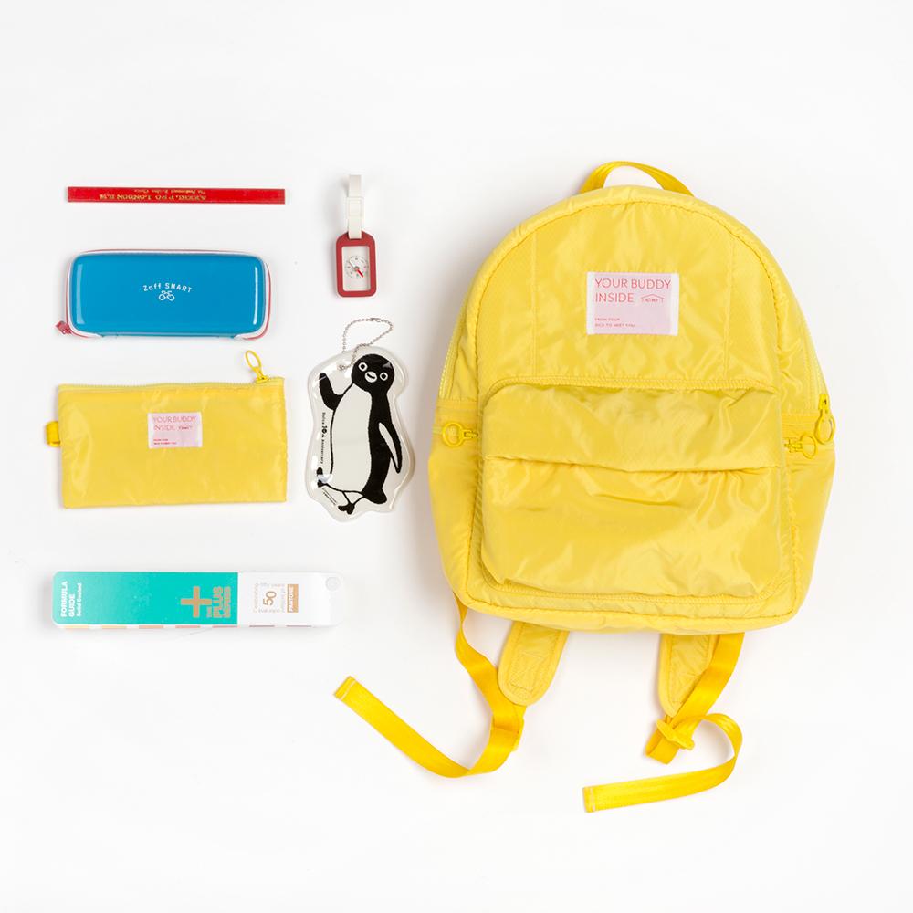 黄色双肩包 NTMY. medium 三明治网布夹层黄色双肩包背包[现货]_推荐淘宝好看的黄色双肩包