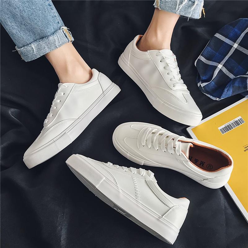 白色帆布鞋 男鞋2021年夏百搭小白鞋男士休闲白色板鞋ins情侣帆布鞋子男潮鞋_推荐淘宝好看的白色帆布鞋