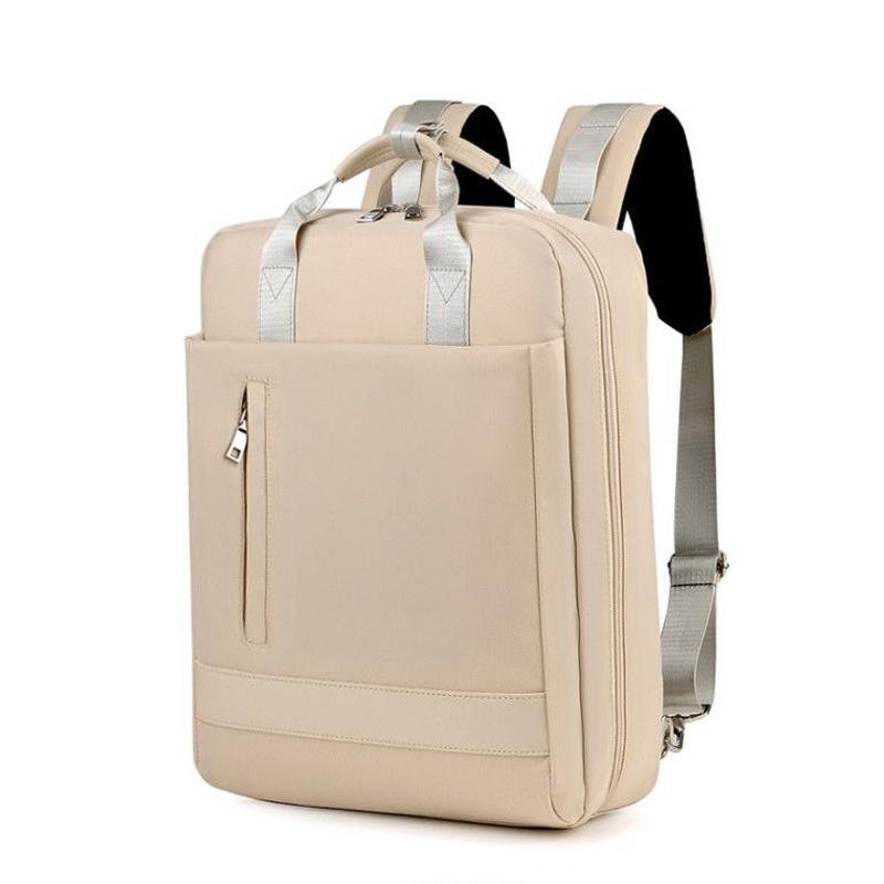 笔记本双肩包 商务手提双肩包男女15.6寸笔记本电脑包充电旅行包大容量防水防震_推荐淘宝好看的女笔记本双肩包