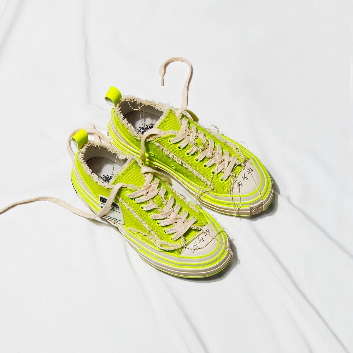 绿色厚底鞋 makingarocket19夏季新款日系原宿ulzzang荧光绿色厚底乞丐帆布鞋_推荐淘宝好看的绿色厚底鞋