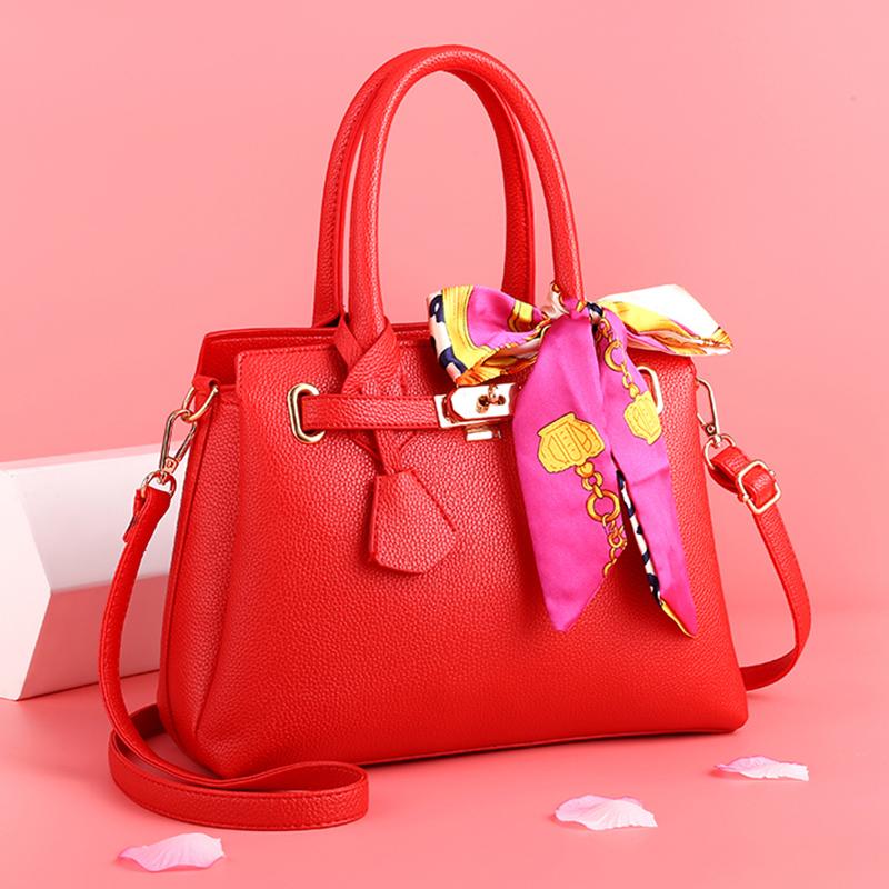 红色斜挎包 结婚包红色包包2021新款新娘包百搭韩版婚礼斜挎单肩手提大气女包_推荐淘宝好看的红色斜挎包