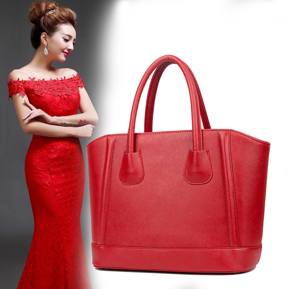 红色单肩包 公主情缘女包结婚包包2020新款包女大红色皮包新娘包单肩包斜挎包_推荐淘宝好看的红色单肩包