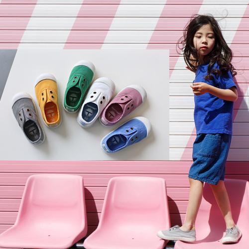 低帮帆布鞋 春秋款西班牙儿童帆布鞋男童女童低帮软底入园一脚蹬小童鞋_推荐淘宝好看的女低帮帆布鞋