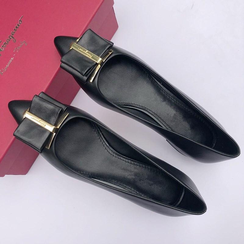 时尚高跟鞋 单鞋平跟包头高跟鞋仙女鞋浅口黑色小皮鞋时尚百搭超烫高跟鞋网红_推荐淘宝好看的女时尚高跟鞋