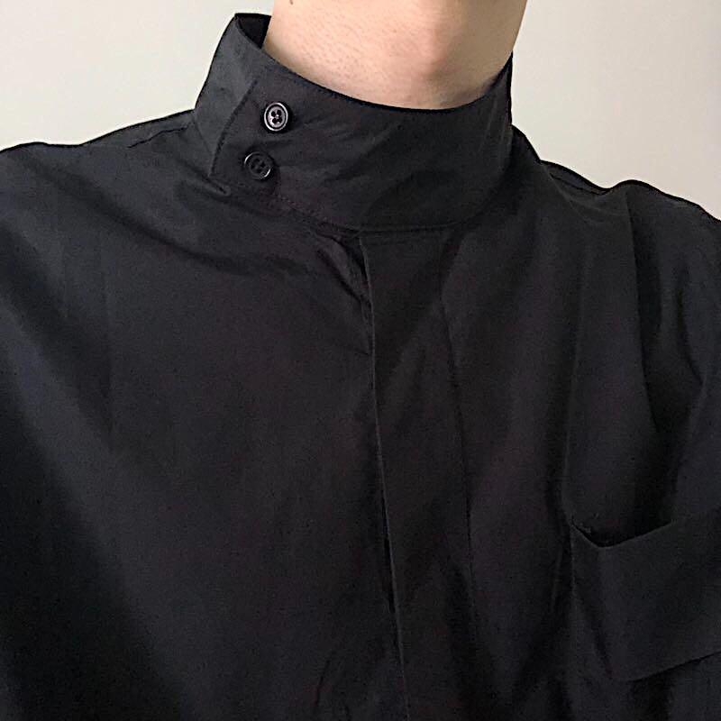 白色衬衫 COLN 这件设计感极简衬衫带给你只有半高领才能带出的慵懒高级感_推荐淘宝好看的白色衬衫