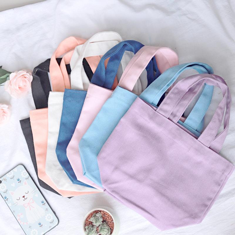 日系糖果包 手工帆布包糖果色便当袋手提小布袋 日系饭盒袋小手袋儿童小拎包_推荐淘宝好看的日系糖果包