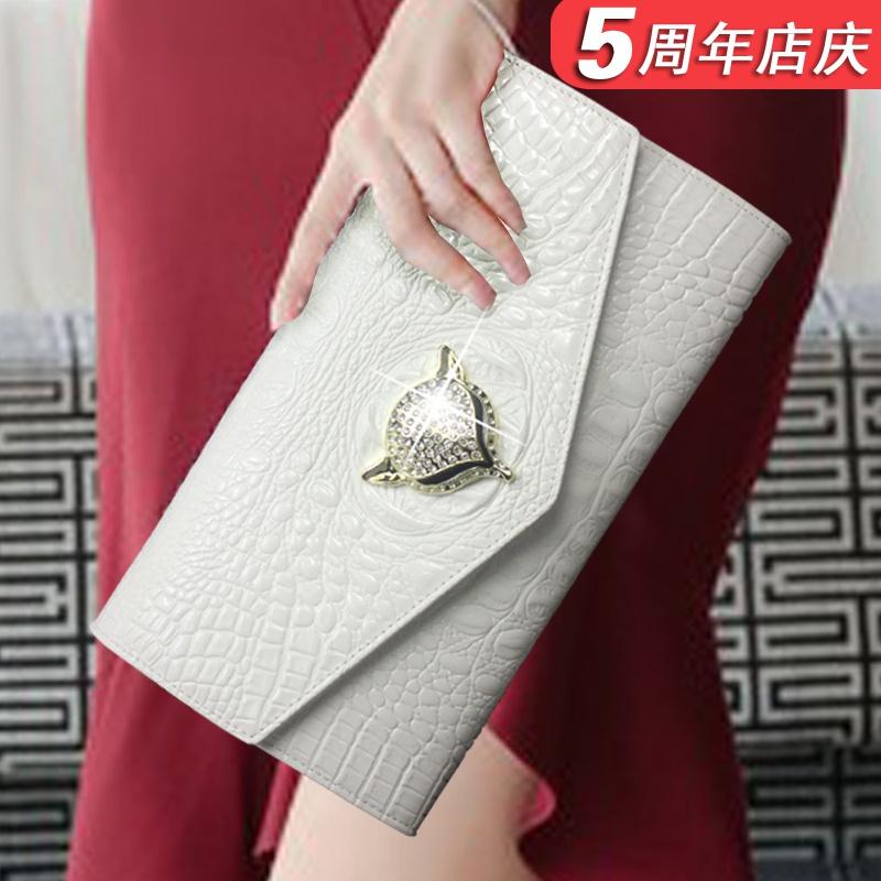 白色手拿包 大容量女士真皮信封手拿包女包小包包2020新款潮夏季时尚气质手包_推荐淘宝好看的白色手拿包