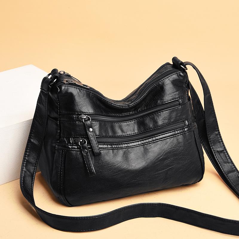 迪奥手提包 时尚水洗软皮单肩斜挎包包女士包2020新款潮多层大容量手提小方包_推荐淘宝好看的迪奥手提包