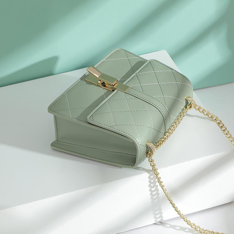 绿色链条包 Somay腋下包包2020新款潮秋冬百搭单肩斜挎包链条绿色学生女包小_推荐淘宝好看的绿色链条包