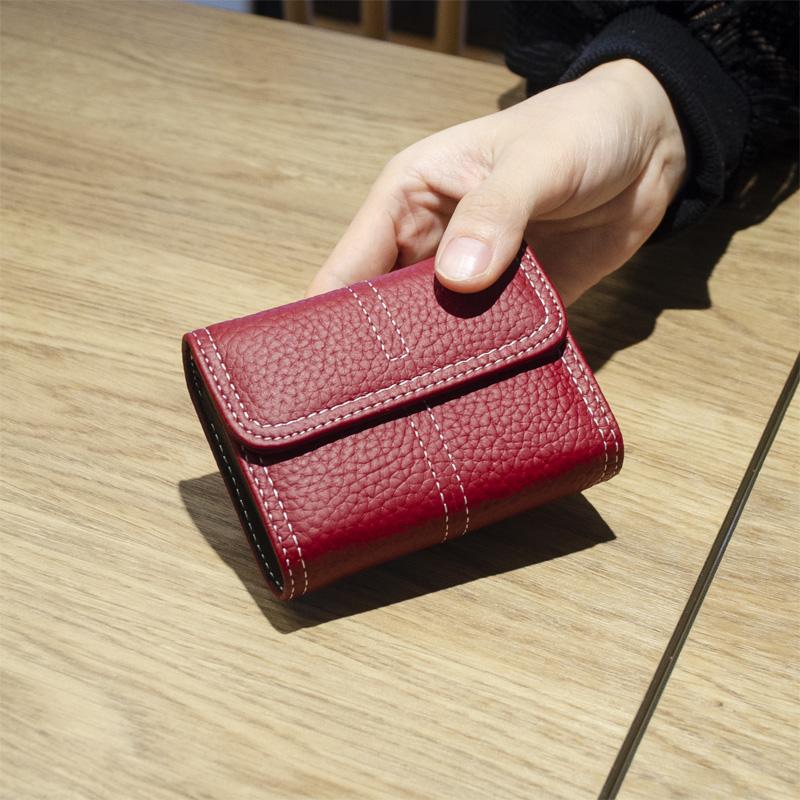 粉红色迷你包 2020韩国新款真皮卡包女式小巧多卡位牛皮小卡片包简约迷你卡夹潮_推荐淘宝好看的粉红色迷你包