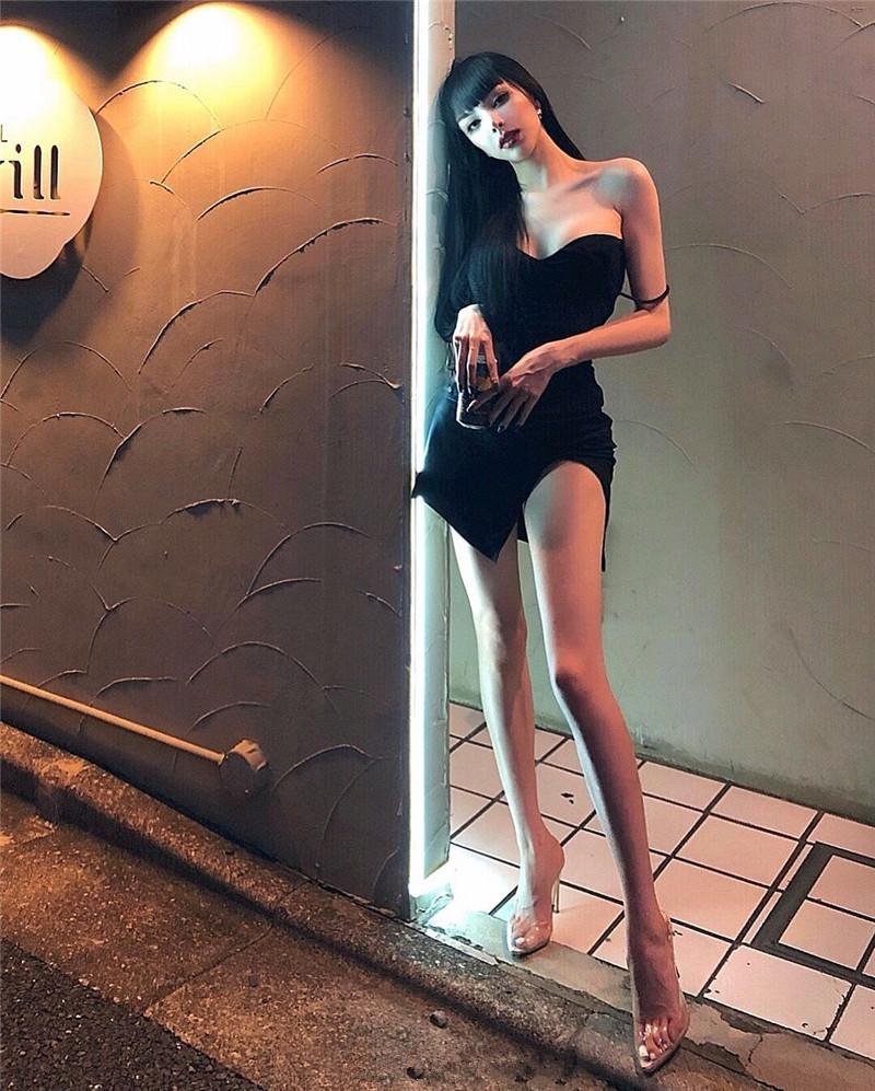 包臀修身连衣裙 ZYIQY夏网红吊带包臀开叉黑色短裙修身低胸欧美度假露背连衣裙_推荐淘宝好看的包臀修身连衣裙