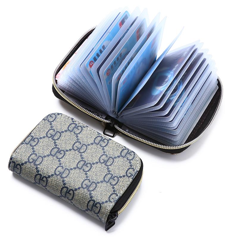 黑色钱包 卡片包女士欧美驾驶证套拉链卡包潮男式风琴卡夹迷你卡套小零钱包_推荐淘宝好看的黑色钱包