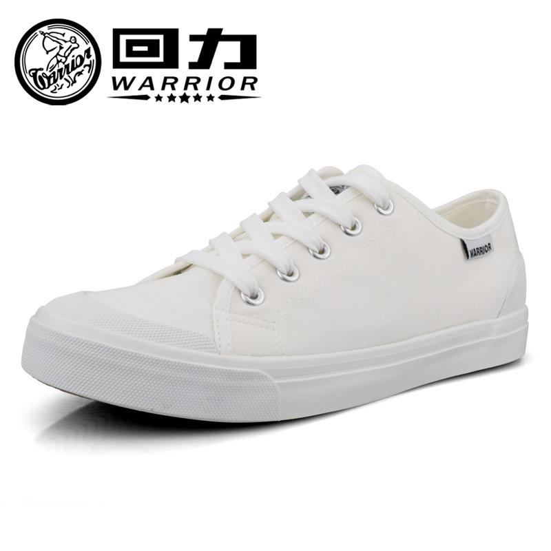 白色帆布鞋 Warrior回力新款白色休闲男鞋简约帆布鞋纯色学生鞋小白鞋806T_推荐淘宝好看的白色帆布鞋