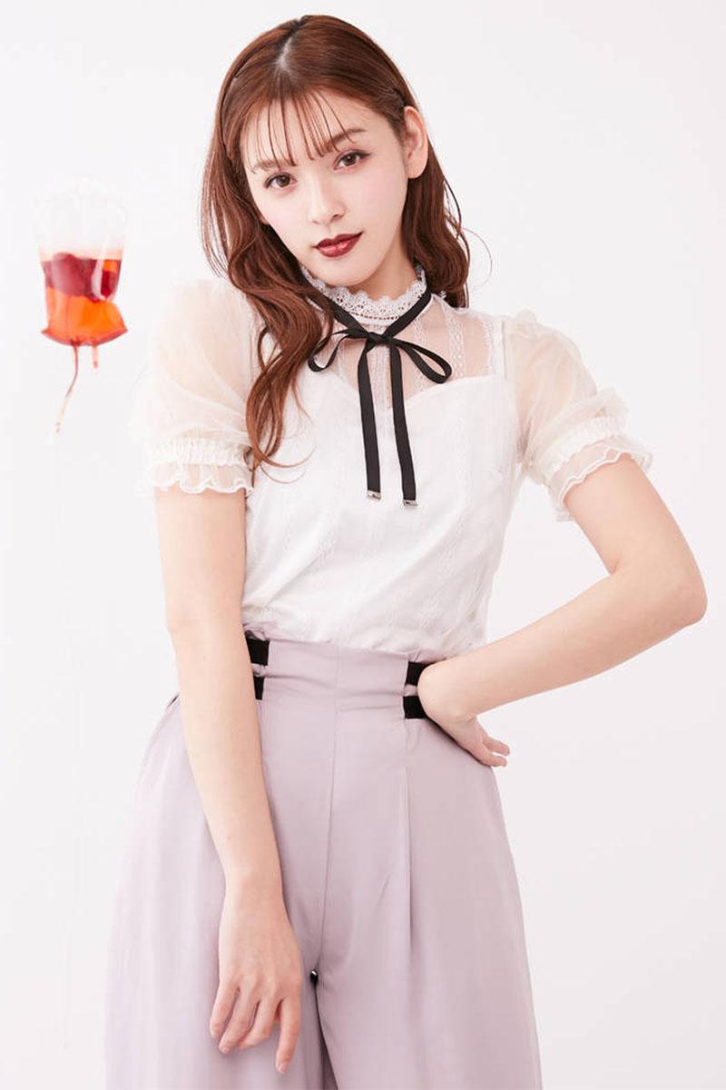 女款短袖衬衫 短款上衣女泡泡袖短袖2020年新款女士衬衫蕾丝衫两件套甜美小个子_推荐淘宝好看的女短袖衬衫