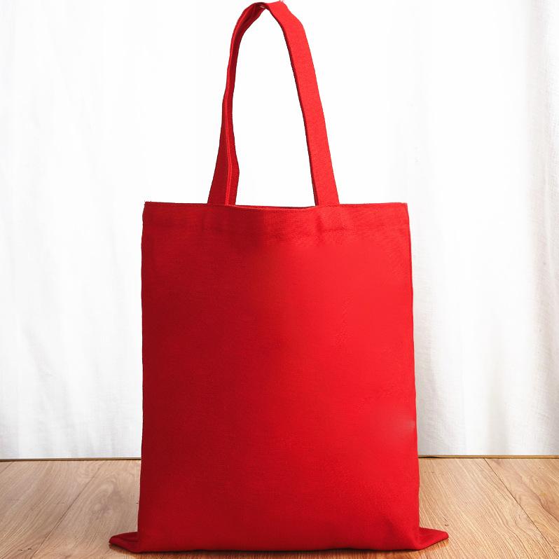 红色单肩包 DIY来图定制定做照片文字单肩帆布包红色手提环保帆布袋子大容_推荐淘宝好看的红色单肩包