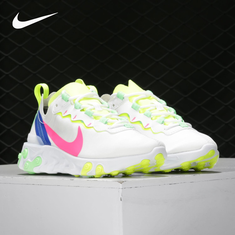 耐克运动鞋 Nike耐克正品2021夏季REACT ELEMENT 55PRM男女运动跑步鞋CU3011_推荐淘宝好看的女耐克运动鞋