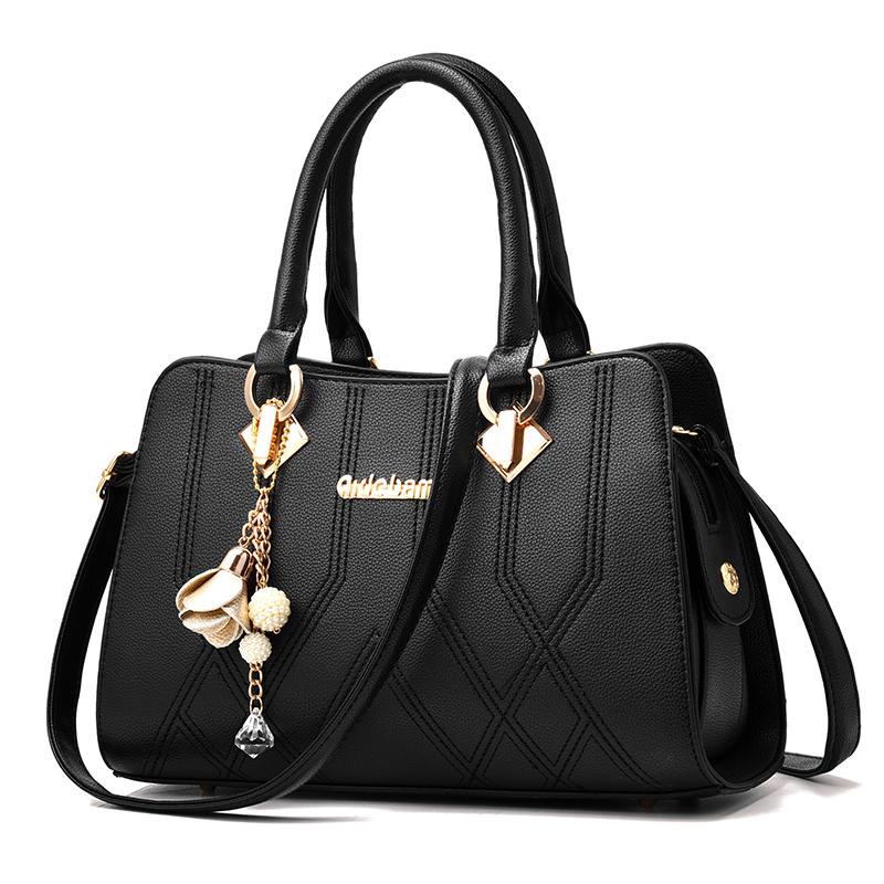 高档手提包 包包女2020新款韩版潮包中年女包妈妈包欧美手提包女士单肩斜挎包_推荐淘宝好看的女手提包