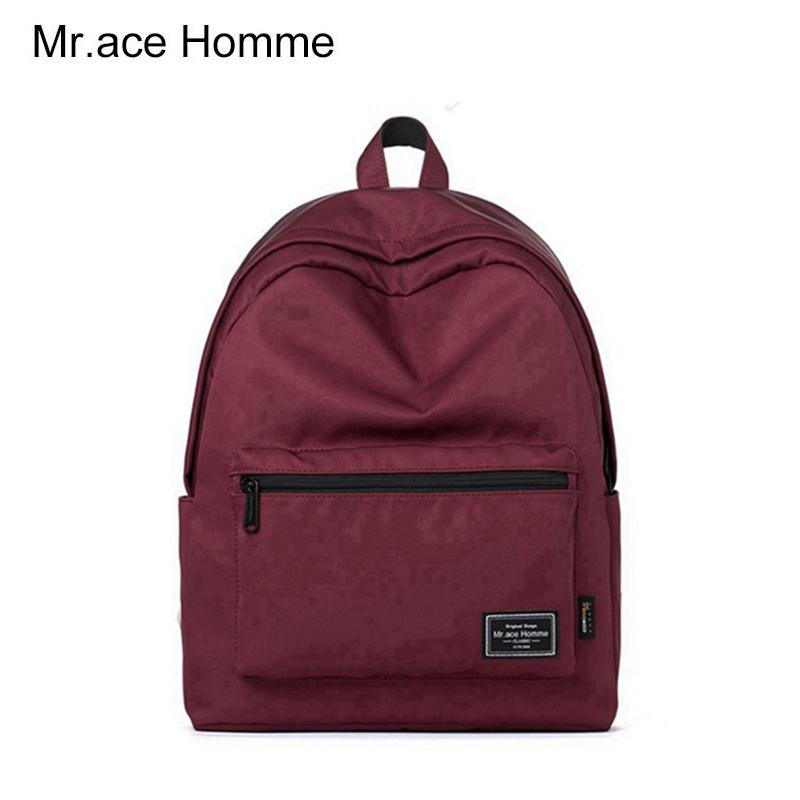 糖果包包 Mr.ace homme新款女包时尚休闲双肩包纯色百搭学生书包糖果色背包_推荐淘宝好看的糖果包