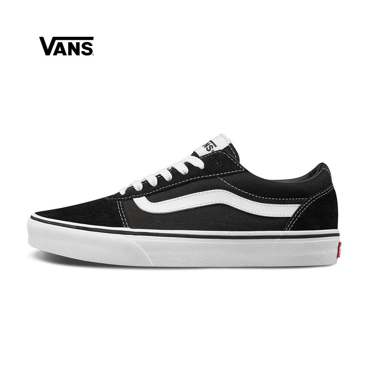 黑色运动鞋 Vans范斯官方 黑色侧边条纹男鞋Ward低帮经典板鞋运动鞋_推荐淘宝好看的黑色运动鞋