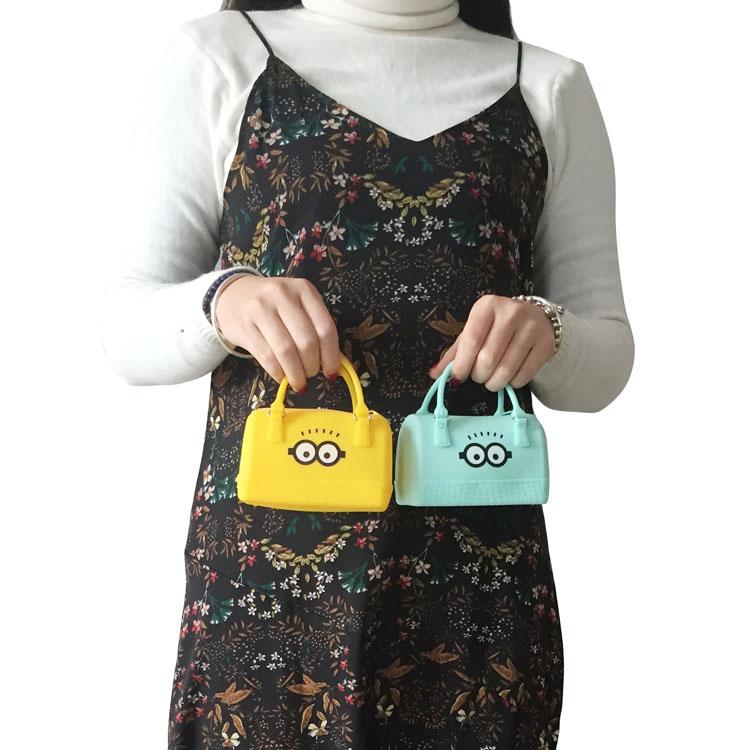 糖果色迷你包 糖果色硅胶手提包 名创优品同款手提包 小零钱包 迷你手拎包女_推荐淘宝好看的女糖果色迷你包