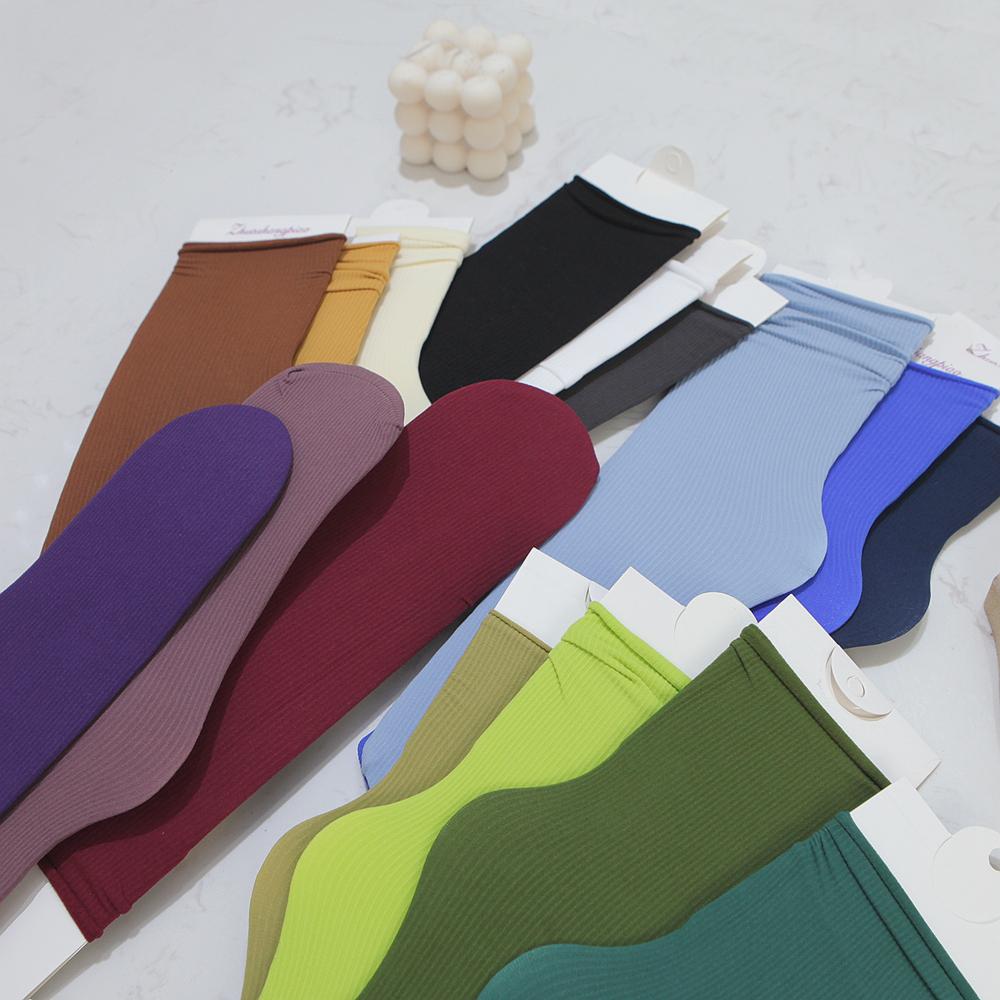 丝袜 韩国春夏季堆堆袜女白色薄款日系天鹅绒中筒冰冰丝袜ins潮长袜子_推荐淘宝好看的丝袜
