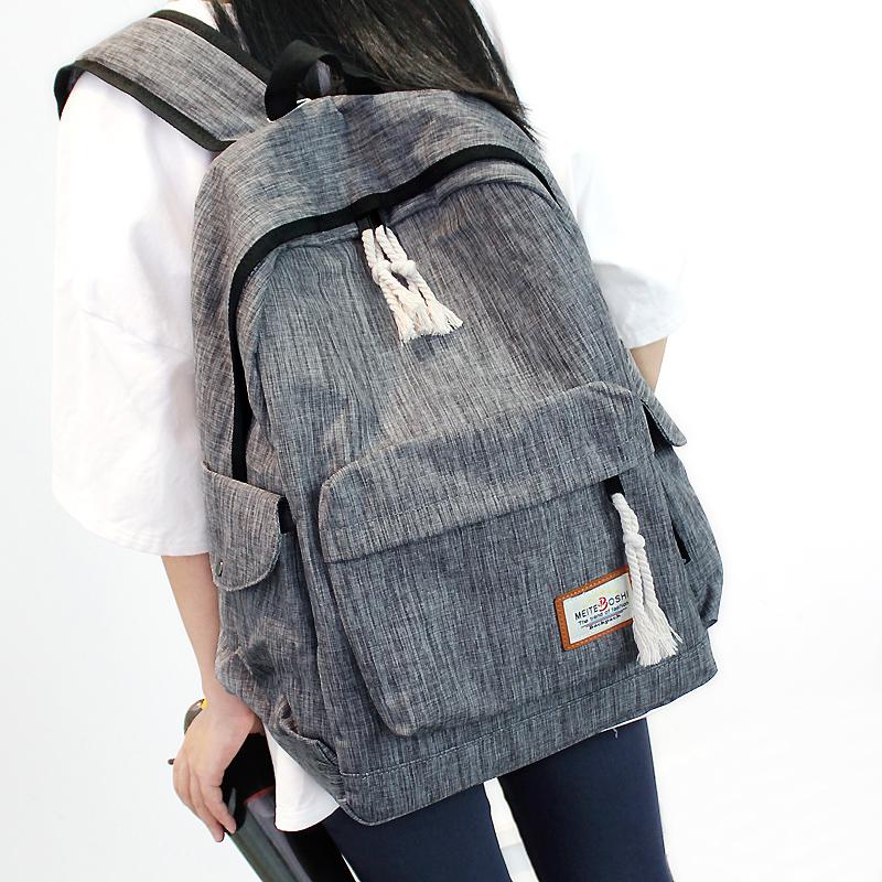 电脑双肩包 简约双肩包男女韩版中学生书包大容量旅行背包学院风电脑包休闲包_推荐淘宝好看的女电脑双肩包